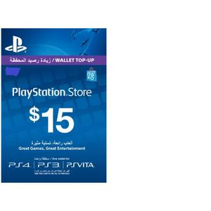 PLAYSTATION GIFT CARD 15 $ UAE
