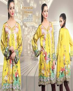 Stylo Embroidered Exclusive Oriental Bloom Winter Collection 2019 Yellow 1 PC Unstiched Viscose Fabric For Women-STUD0105