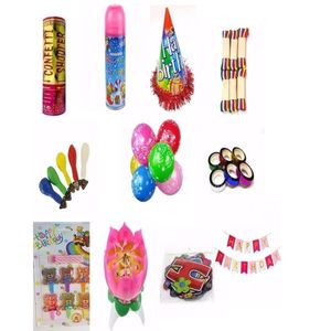ASA Pack of 126 - Birthday Party Supplies Package - Multicolor
