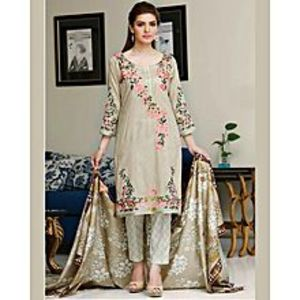 HyperZoneHyperZone - Skin Pink Floret Embroidery Lawn UnStitched 3 Piece Suit