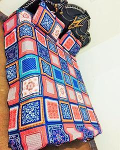 Multi Color Bedsheet, Crystal Cotton. Digital Prints (Lifetime Fabric & Colours Warranty )