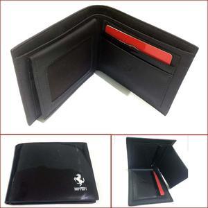 Trendy Shiny Surface Wallet Black