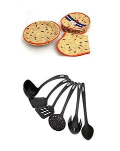 Deal Of 2 - Non Stick Spoons with 3 Pcs Roti Basket