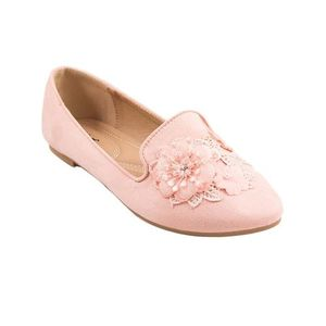 Pink Artificial Leather Womens Pumps 071-267