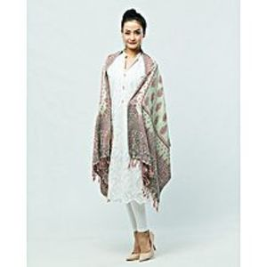 Misbah's StylePista Green & Brown Pashmina Shawl for Women