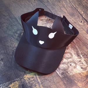 Women Outdoor Visor Sun Plain  Hat Cap Simple Summer Design Cat Hats