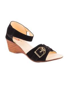Black Velvet heel sandal For Women