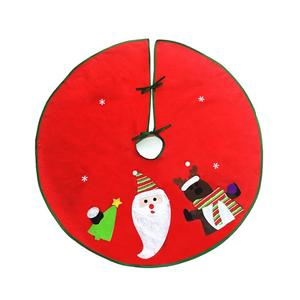 90cm Red Christmas Tree Skirt Apron Xmas Ornament Home Party Decoration
