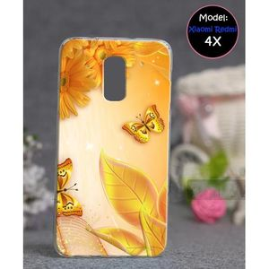 Xiaomi Redmi 4X Mobile Cover Floral Style - Yellow