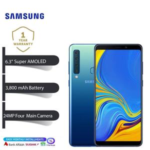 Samsung Galaxy A9 Mobile Phone - Display 6.3  FHD Display - 6GB RAM - 128GB ROM - Fingerprint Sensor