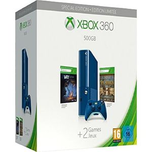 Xbox 360 - 500GB Special Edition - Console Bundle With Game Downloads – Blue