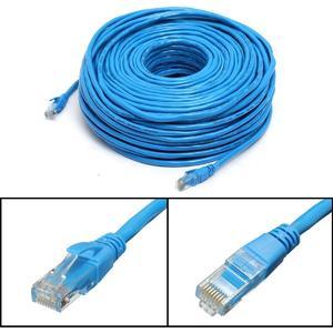 Blue 50M/164Feet RJ45 CAT6 CAT6E Ethernet Internet LAN Wire Network Cable Cord
