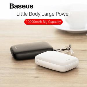 Baseus Mini Power Bank 10000mAh For xiaomi Samsung iPhone Powerbank Dual USB Type C Portable Charger External Battery Poverbank