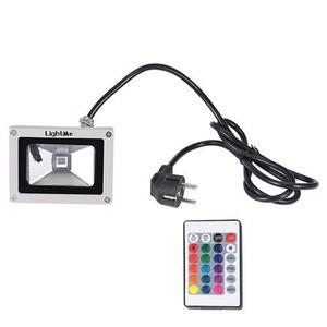 Lightme Outdoor AC 85 - 265V 5W LED Flood Light Waterproof Colorful Landscape Security Spotlight With Remote Controller - White Grey