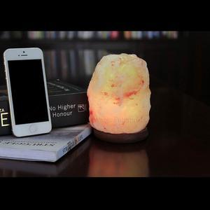 USB Himalayan Natural Shape Salt Lamp with Multi Color-Changing LED Bulb (Best Gift) (Himalayan Salt)
