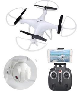 Wifi Drone LH-X25 2.4G 4CH 720P FPV Camera With LED Light & 360 Camera View - WHITE