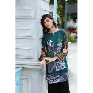 So Kamal Winter Collection  Green Karandi Embroidered 1PC -Unstitched Shirt DPW18 774 EF01289-STD-DGN