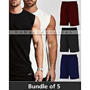 BnB Accessories Pack Of 5 Sleeveless T-Shirts + Shorts
