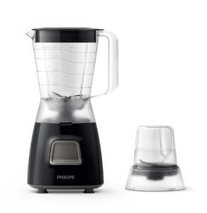 PHILIPS BLENDER 350 W, 1 L Plastic jar, 4 stars stainless steel blade, with mill  HR2056/90