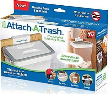 Kitchen Cupboard Door Back Style Stand Trash Attach Holder Garbage Bags Storage Rack Accessories