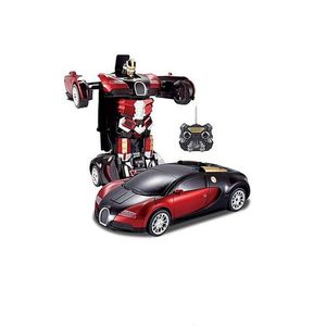 Kids Toy Transformer Rc Robot Car Remote Control Car- Red