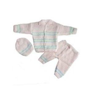 Peekaboo3 Pcs Pink Collar Sweater Set for Newborn
