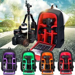 Waterproof Large DSLR Camera Backpack Bag Case For Canon For Nikon W/ Rain Cover
