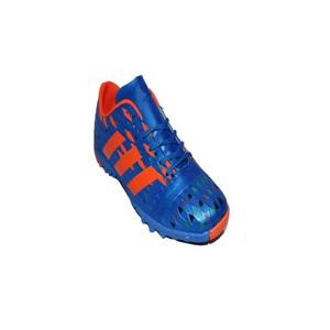 Blue Rexine Football Shoes For Men