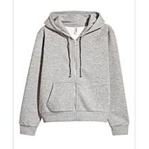 A&GHooded Sweatshirt Jacket-Grey