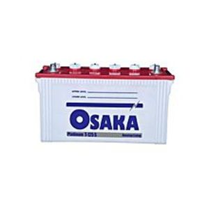 Osaka Batteries PLATINUM T-125 S - 15 Plates - Acid Battery - White