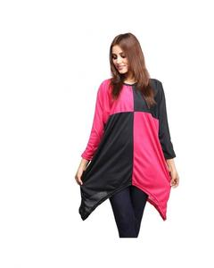 Pink Polyester Tunic For Women