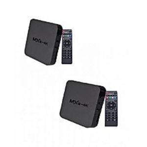 I.T WholeSellerPack of 2 - MXQ Android TV Box (4K) with Remote - Black