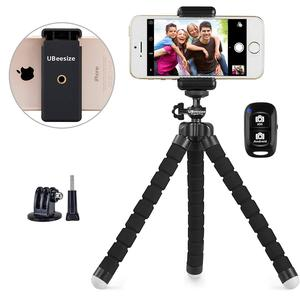 Flexible Small Foam Portable Tripod & Selfie Stick For Mobile Phone And Small Cameras
