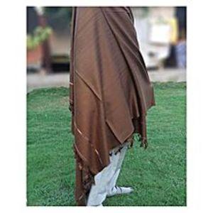 Charsadda HandMadeHandmade Woolen Shawl - Brown Color