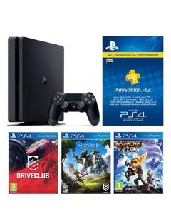 PS4 HITS Bundle 500GB + Horizon Zero Dawn, Ratchet & Clank, and Driveclub + 3 Month PS Plus