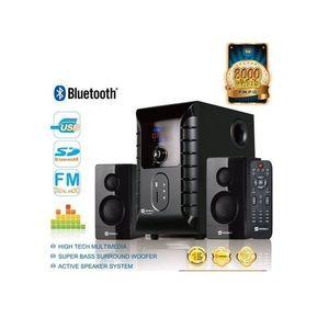 SHT-1002 - 2.1 Channel Speaker With Subwoofer/USB/Remote Control/SD/FM/Bluetooth/LED Display - Black