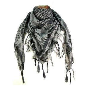Blended Cotton Arabic Head Scarf For Men - Grey