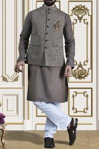 Almirah Summer Spring Collection Vol.01 2019 Brown POLYESTER Men's Waistcoat