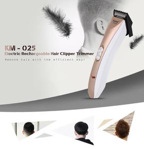 Kemei KM - 025 Electric Rechargeable Hair Clipper Trimmer Shaver Razor Adjustable Clipper Haircut for Men Baby EU PLUG