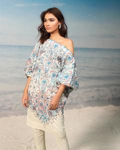 """Alkaram studio Spring Summer Collection 2019 Vol II Blue Lawn 1 Piece Suit For Women -A132219465"""