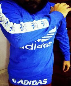 Blue Fancy Stripe Printed Hoodie For Men Ukcollection