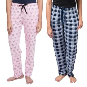 tight Wear Printed pajama Trouser for Women-Pack of 2