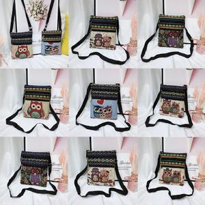 Women's Canvas Cartoon Handbag Shoulder Messenger Bag Ladies Satchel Tote Bags