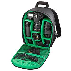 DL-B027 Portable Waterproof Scratch-proof Outdoor Sports Backpack SLR Camera Bag Phone Bag for GoPro, SJCAM, Nikon, Canon, Xiaomi Xiaoyi YI, iPad, Apple, Samsung, Huawei, Size: 27.5 * 12.5 * 34 cm(Green)