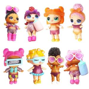 Vktech DIY Wear Clothes Bottle Girl Doll Baby Change Dolls Action Figure Toys Gift