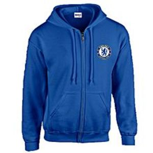 Sola Singhar Blue Fleece Chelsea Print Hoodie for Men