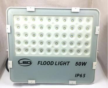 LED Flood Light  50 Watt - Waterproof - White Commercial or Residential Grade Security Flood Light