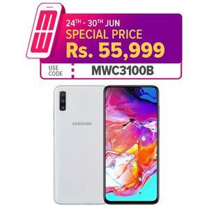 "Samsung Galaxy A70 Mobile Phone - 6.7"" Display - 6GB RAM - 128 GB ROM - Fingerprint"