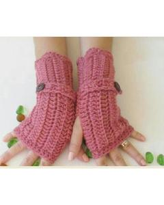 Pink Wool Gloves for Women