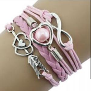 New Fashion Bracelets For Women Lady Heart Cupid Wristband bangles Bracelet